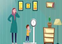 میزان وزن گیری کودک در سال دوم